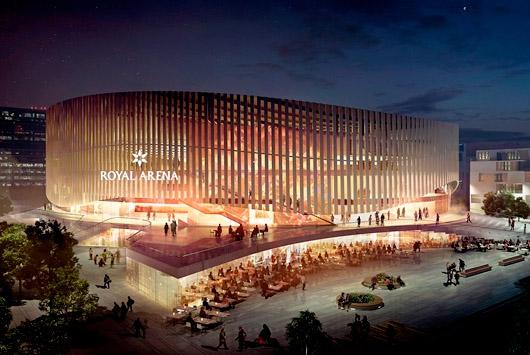 Artist rednering of Royal Arena in Copenhagen.