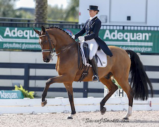 Tinne Vilhelmson-Silfvén riding Divertimento to vicytory in the Wellington Wporld Cup Grand Prix Special. © 2015 SusanJStickle.com