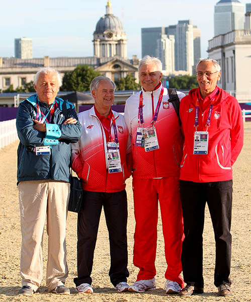 Wojtek Markowski, technical delegate at the 2012 Olympic Games in London with officials from Poland. © Ken Braddick/dressage-news.com