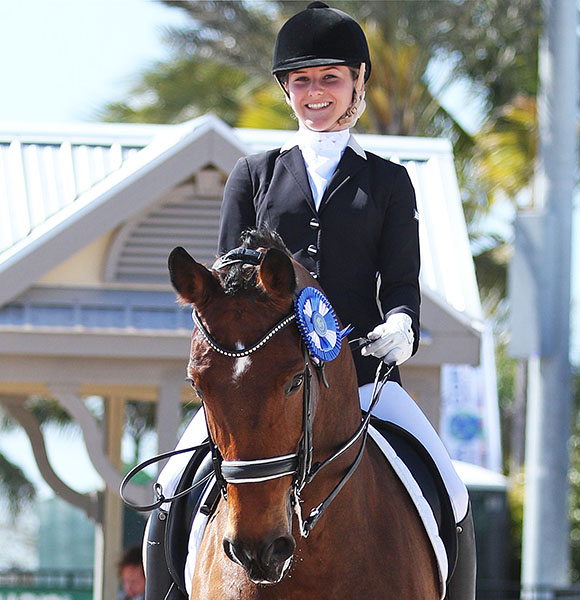 Felicitas Hendricks on Faible AS. © 2015 Ken Braddick/dressage-news.com