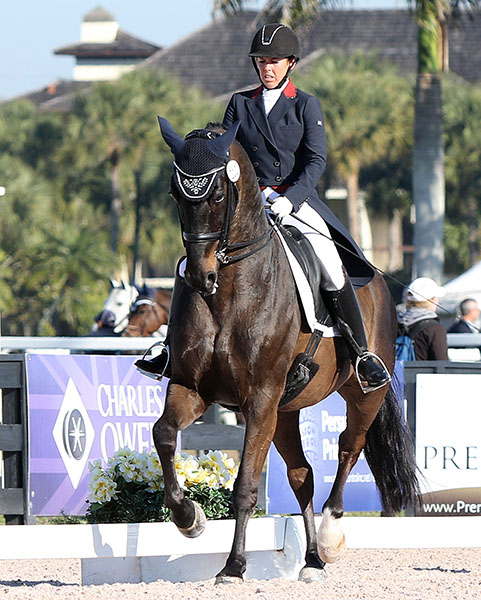 Kasey Perry riding Goerklintgaards Dublet in the debut Grand Prix for the duo. © 2015 Ken Braddick/dressage-news.com