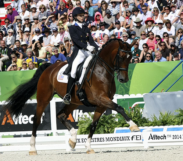 Laura Graves and Verdades in the World Games Freestyle. © 2014 Ilse Schwarz/dressage-news.com