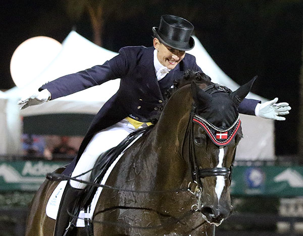 Mikala Gundersen on My Lady, the top money earning rider at Florida's Adequan Global Dressage Festival. © 2015 Ken Braddick/dressage-news.com