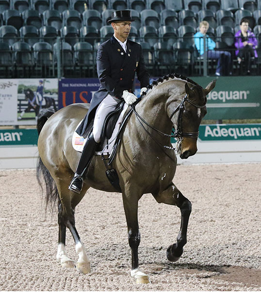 Steffen Peters on Legolas in the CDI5* Grand Prix. © 2015 Ken Braddick/dressage-news.com