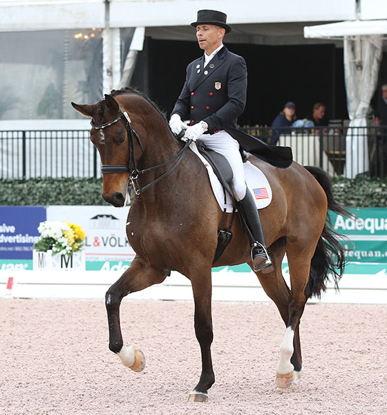Steffen Peters riding Rosamunde in Florida CDI this year. © 2015 Ken Braddick/dressage-news.com