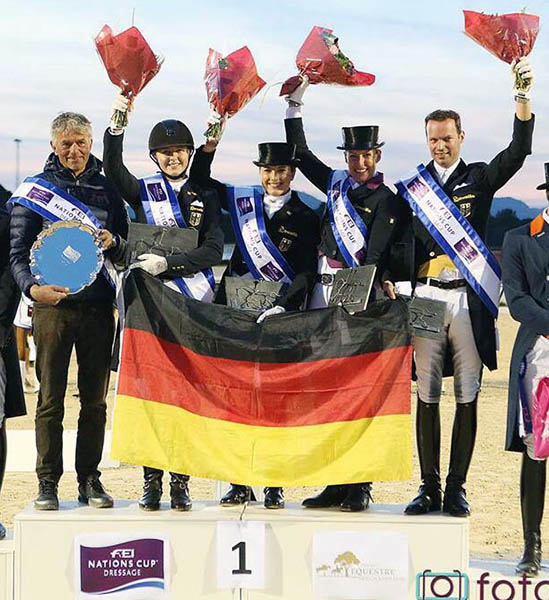 Germany's gold medal Nations Cup team at Vidauban. © 2015 foto diele