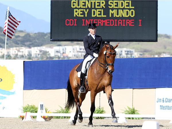 Gunter Seidel on Rey del Mundo winning the Intermediate 1. © 2015 Ken Braddick/dressage-news.com