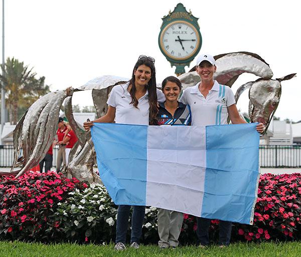 Guatemala team of Alexandra Dominguez, Andrea Schorpp and Esther Mortimer. © 2015 Ken Braddick/dressage-news.com