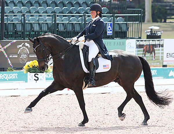 Kimberly Herslow on Rosmarin was the highest scoring small tour combination in the Nations Cup. © 2015 Ken Braddick/dressage-news.com