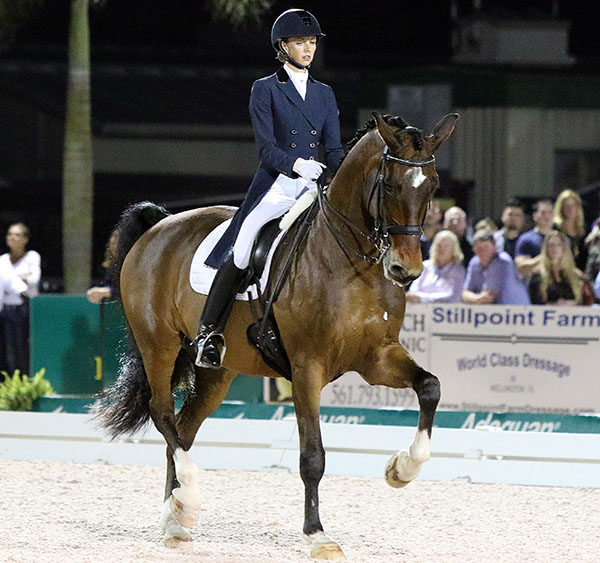 Laura Graves on Verdades in the World Cup Grand Prix Freestyle. © 2015 Ken Braddick/dressage-news.com