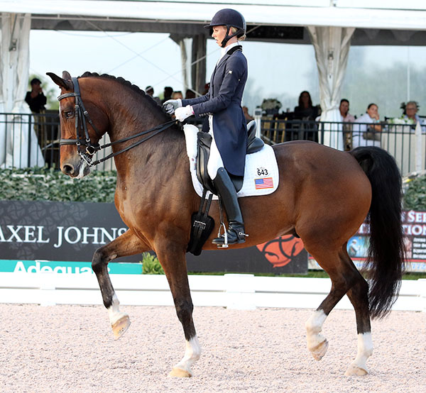 Laura Graves riding Verdades in the Wellington Nations Cup. © 2015 Ken Braddick/dressage-news.com
