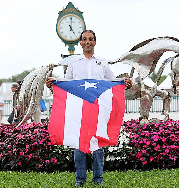 Luis Reteguiz-Denizard riding as an individual for Puerto Rico. © 2015 Ken Braddick/dressage-news.com