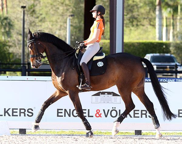 Rosalie Bos on Equestricons Bolita. © Ken Braddick/dressage-news.com