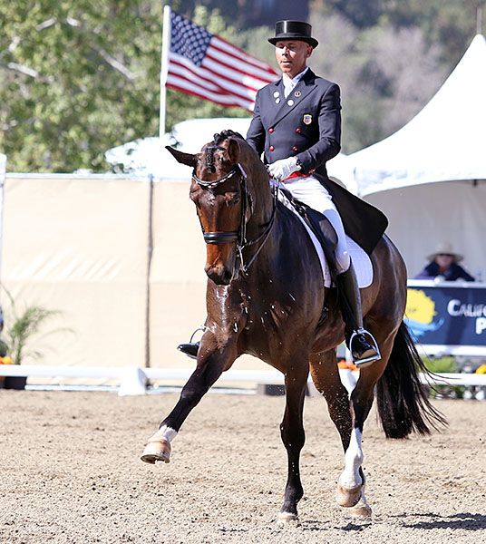 Steffen Peters on Rosamunde in the California Dreaming World Cup Grand Prix. © 2015 Ken Braddick/dressage-news.com