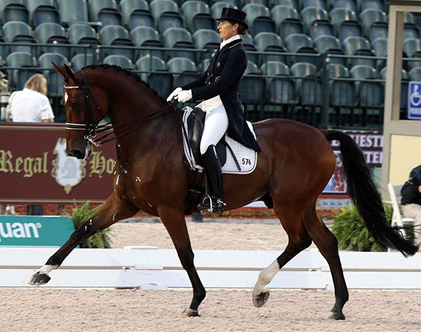 Tinne Vilhelmson-Silfvén riding Divertimento in the Adequan Global Dressage Festival World Cup Grand Prix Special. © 2015 Ken Braddick/dressage-news.com