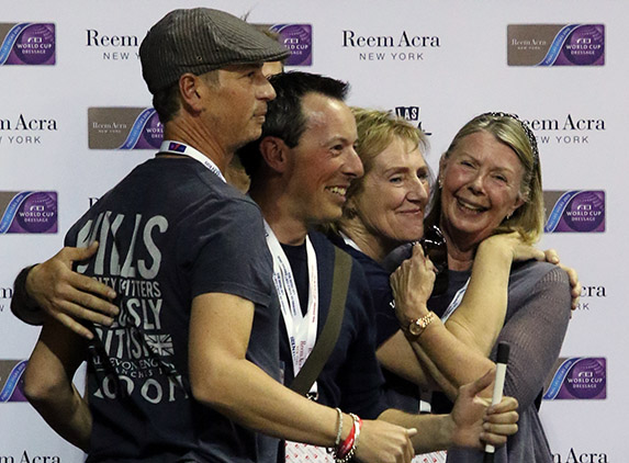 From the smiles and hugs it obviously ended terrifically. © 2015 Ken Braddick/dressage-news.com