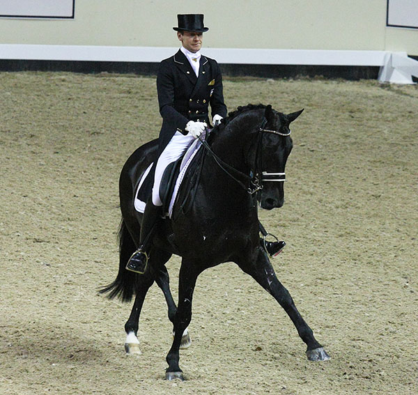 Edward Gal riding Glock's Undercover to runnerup in the World Cup Final. © 2015 Ilse Schwarz/dressage-news.com