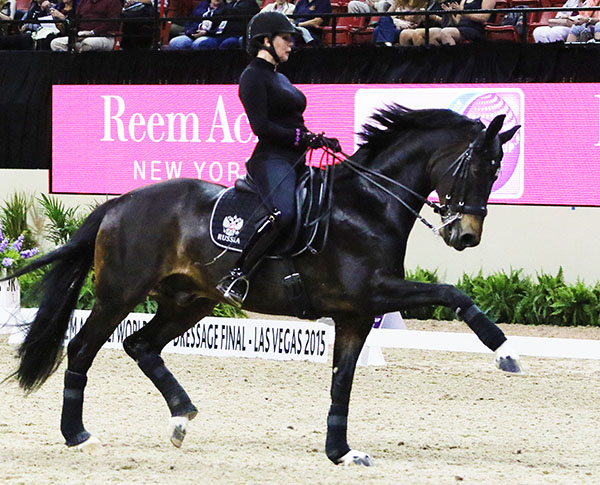 Inessa Merkulova of Russia and Mister X. © 2015 Ken Braddick/dressage-news.com