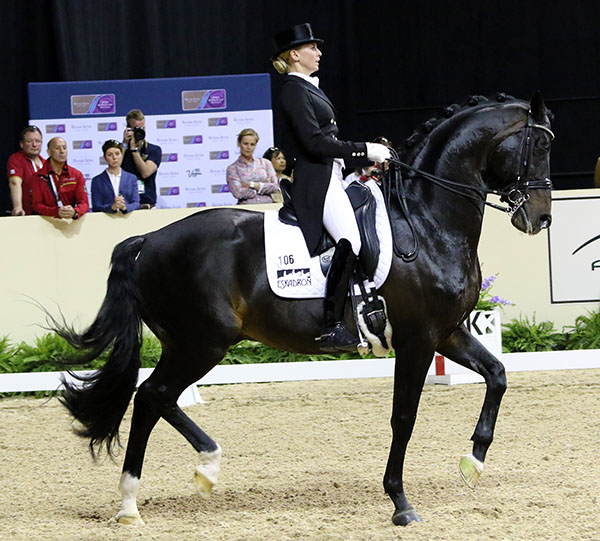 Germany's Jessica von Brewdow-Werndl on Unee BB. © 2015 Ken Braddick/dressage-,