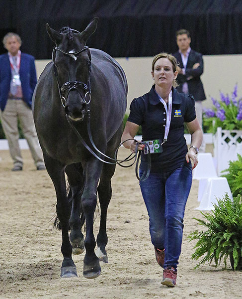 Paulinda Friberg of Sweden on Di Lapponia T are competing in the first championships. © 2015 Ken Braddick/dressage-news.com