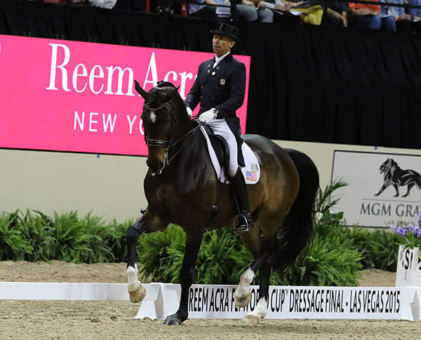Steffen Peters and Legolas in the World Cup Grand Prix in Las Vegas. © 2015 Ken Braddick/dressage-news.com