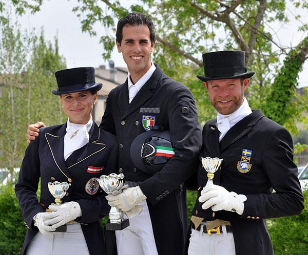 Leonardo Tiozzo (center) with Timna Zach (left) and Mattias Jansson. © 2015 Equestra Group