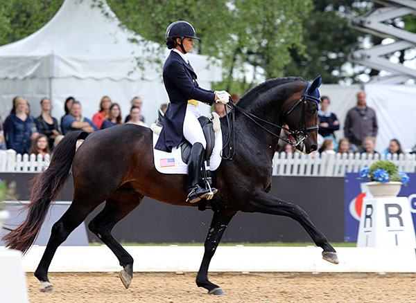 Allison Brock and Rosevelt in the CDI3* Grand Prix in Munich. © 2015 Ken Braddick/dressage-news.com