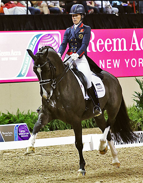 Charlotte Dujardin and Valegro at the World Cup Final in Las Vegas. © 2015 Ken Braddick/dressage-news.com