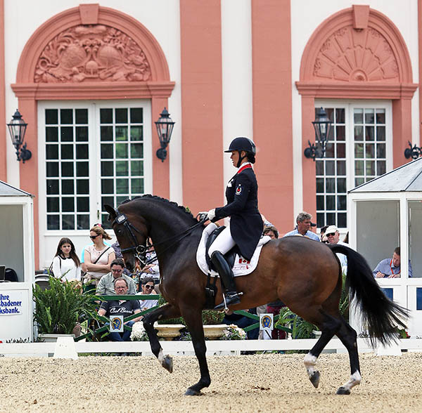 Karen Pavicic on Don Daquiri competing at the Wiesbaden, Germany CDI4*. © 2015 Ken Braddick/dressage-news.com