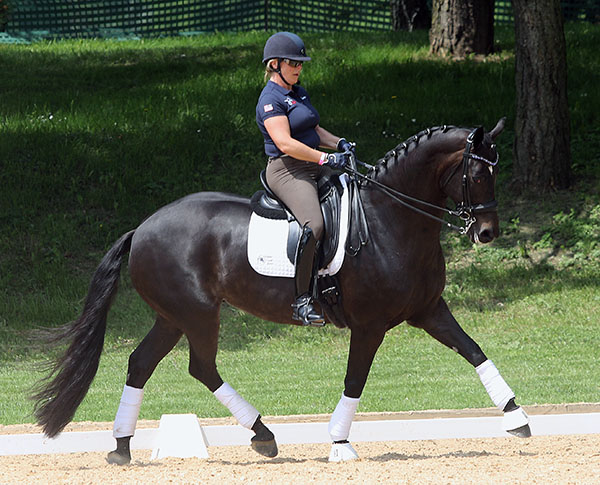 Kimberly Herslow on Rosmarin at Munich. The pair finished at the top of the U.S. Pan American Games small tour rankings. © 2015 Ken Braddick/dressage-news.com