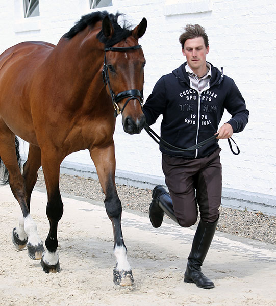 Great Britain 's Michael Eilberg and Marakov. © 2015 Ken Braddick/dressage-news.com