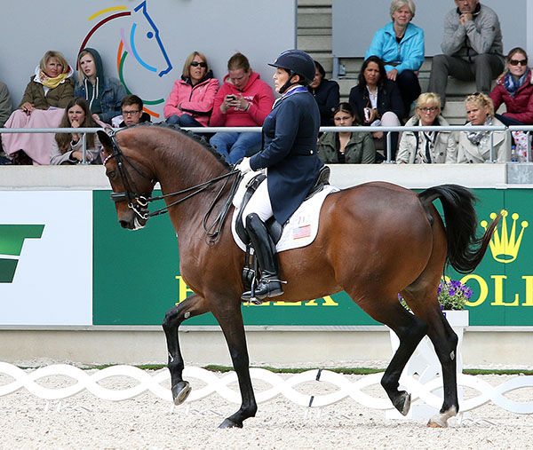 Shelly Francis on Doktor in the Aachen CDI5* Grand Prix. © 2015 Ken Braddick/dressage-news.com