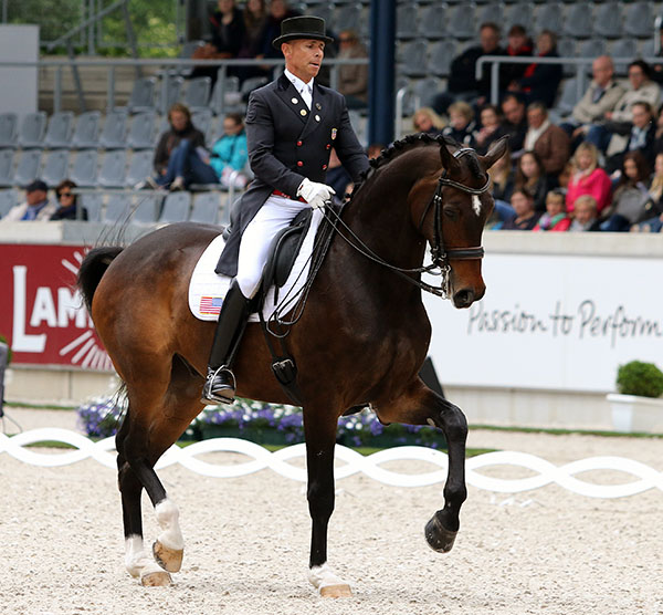 Steffen Peters on Legolas in the Aachen CDI5* Grand Prix in May. © 2015 Ken Braddick/dressage-news.com