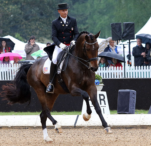 Steffen Peters and Rosamunde competing in Europe this year. © 2015 Ken Braddick/dressage-news.com