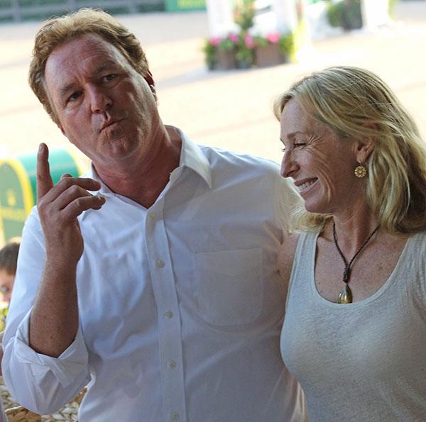 Mark Bellissimo wth his wife, Katherine. © 2015 Ken Braddick/dressage-news.com