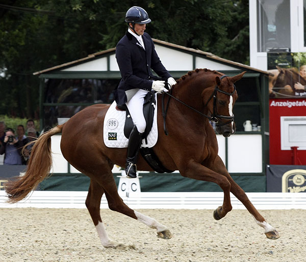 Woodlander Farouche ridden by Michael Eilbert. File photo by Ilse Schwarz/dressage-news.com