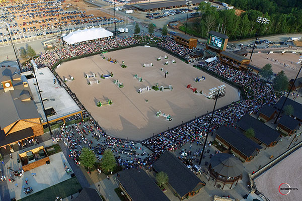 The George Morris main stadium at the formal opening of the Tryon International Equestrian Center. © 2015 Thierry Billet/Sportfot