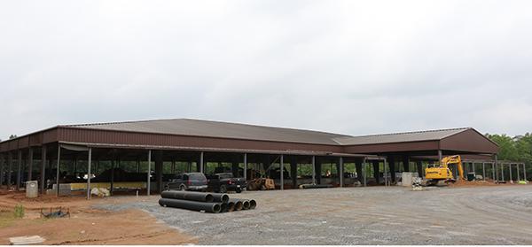 Covered arena at Tryon International Equestrian Center. © 2015 Ken Braddick/dressage-news.com