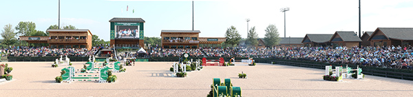 The Tryon Interntional Equestrian Center main arena. © 2015 Ken Braddick/dressage-news.com