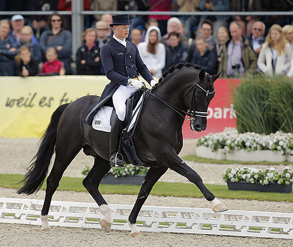 Totilas ridden by Matthias Alexander Rath in the CDI4* Grand Prix Special at Hagen. © 2015 Stefan Lafrentz