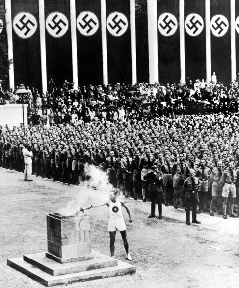 Opening of the Olympic Games in Berlin on Aug. 1, 1936