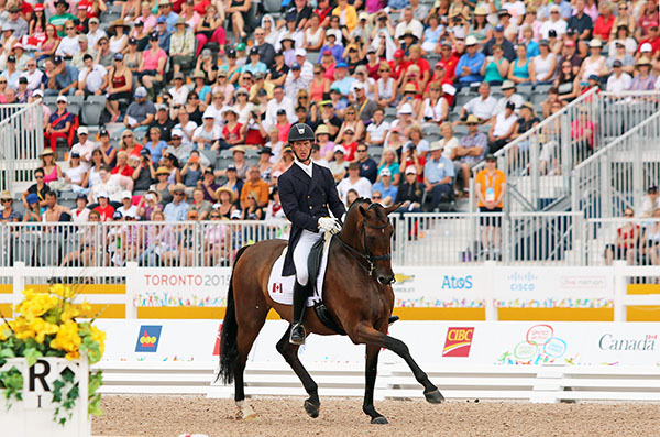 Chris von Martels on Zilverstar who won Pan American Games individual bronze. © 2015 Ken Braddick/dressage-news.com