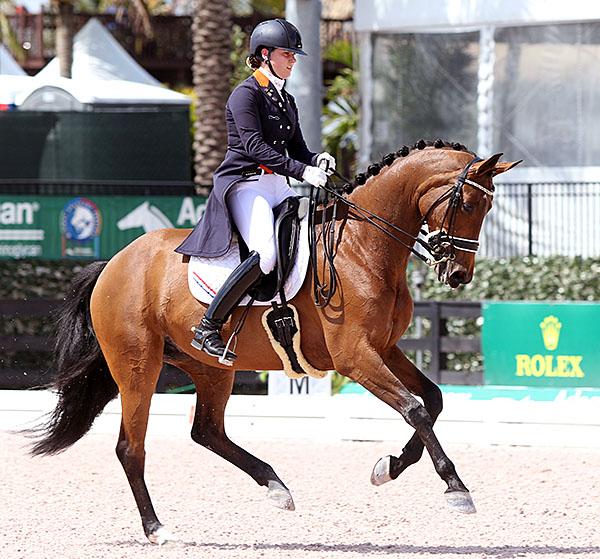 Dana van Lierop and Equestricons Walkuere. ƒile photo © 2015 Ken Braddick/dressage-news.com