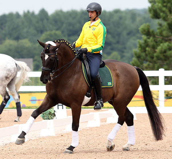 The talked about combination of Leandro Aparecido da Silva of Brazil on Di Caprio. © 2015 Ken Braddick/dressage-news.com