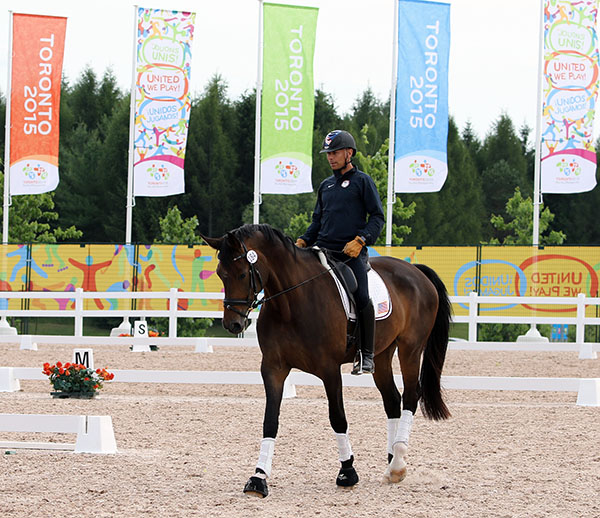 Steffen Peters at the Pan American Games Caledon equestrian venue. © 2015 Kn Braddick/dressage-news.com