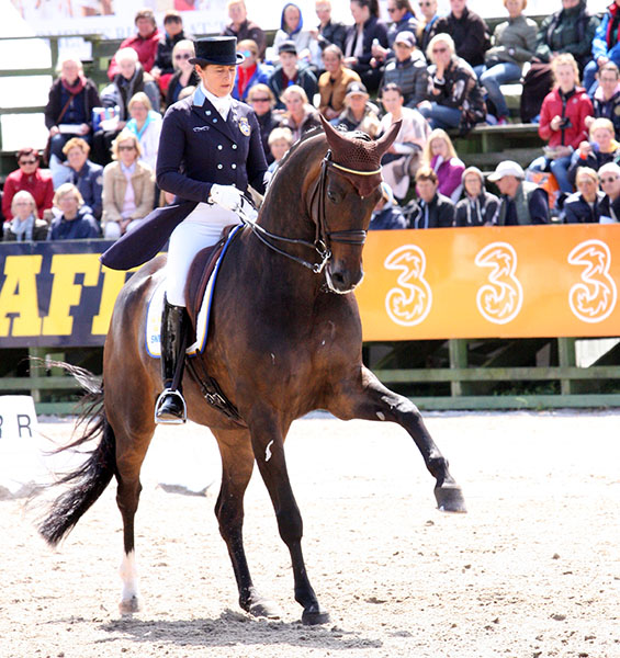 Tinne Vilhelmson Silfvén and Don Auriello on their way to victory in the CDIO5* Nations Cup. © 2015 Pelle Wedenmark for dressage-news.com