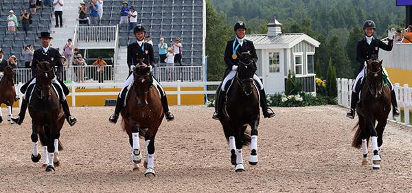 USA Pan American Games gold medal team. © 2015 Ken Braddick/dressage-news.com