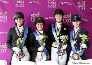USA's Region 7 team of Californians that won the North American Young Rider Championship. © 2015 SusanJStickle.com