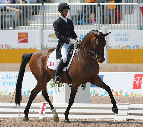 Chris Von Martels and Zilverstar that were the pacesetters for the top group. © 2015 Ken Braddick/dressage-news.com