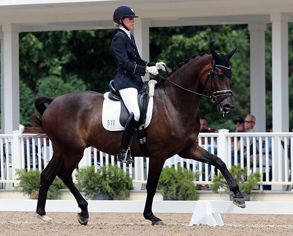 Carly Taylor-Smith riding Rosalut to the USA five-year-old championship. © 2015 Ken Braddick/dressage-news.com